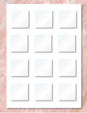 "7.5"" Custom Edible Print Little Squares"