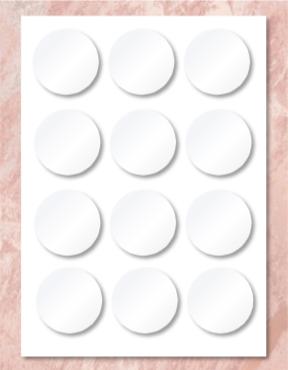 "7.5"" Custom Edible Print Little Circles"
