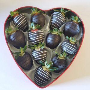 Sweet Heart Strawberries Box